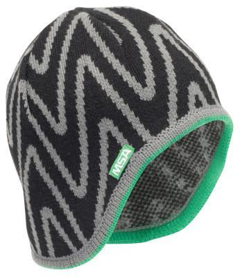 MSA V-Gard Value Winter Liners Skull Cap, High Bulk Acrylic Black/Gray