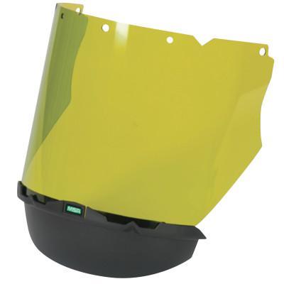 """MSA V-Gard Arc Visors, Light Green, 17 1/4"""" x 8"""""""