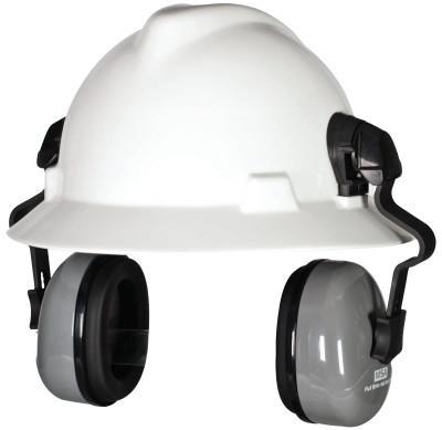 MSA Sound Control SH Earmuffs, 25 dB NRR, Gray/Black, Cap-Mounted