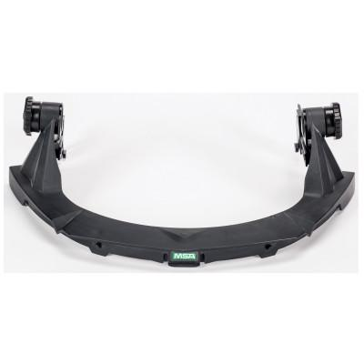 MSA V-Gard Faceshield Frames w/o Debris Control, Black, For MSA Slotted Caps