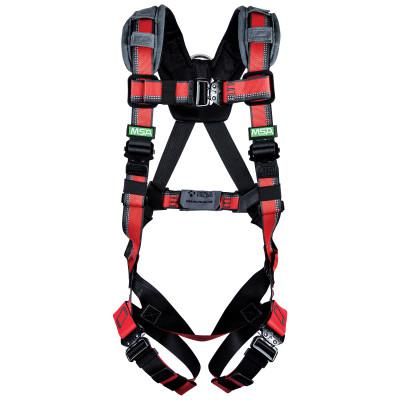 MSA Evotech Lite Harnesses, Back D-Ring, Super X-Large, Quick Connect Buckles