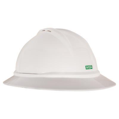 MSA V-Gard 500 Protective Caps, 4 Point Fas-Trac, Green