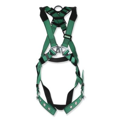 MSA V-FORM™ Full-Body Harness, Back D-Ring, Standard, Tongue Buckle Leg Straps