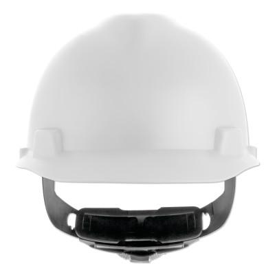 MSA V-Gard Cap-Style Hard Hat with Fas-Trac III Suspension, Matte, White