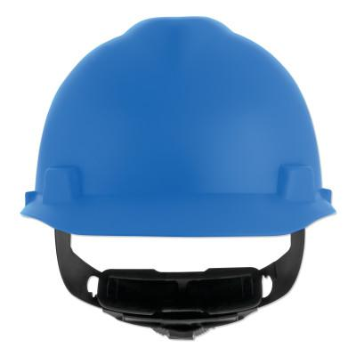 MSA V-Gard Cap-Style Hard Hat with Fas-Trac III Suspension, Matte, Blue