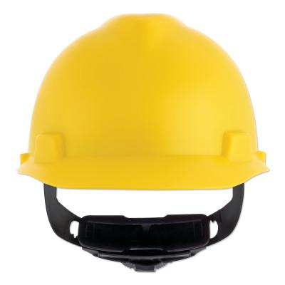 MSA V-Gard Cap-Style Hard Hat with Fas-Trac III Suspension, Matte, Yellow