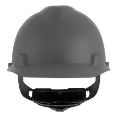 MSA V-Gard Cap-Style Hard Hat with Fas-Trac III Suspension, Matte, Grey