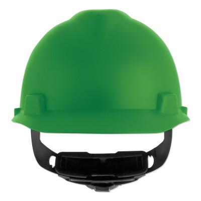 MSA V-Gard Cap-Style Hard Hat with Fas-Trac III Suspension, Matte, Green