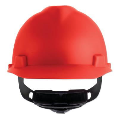 MSA V-Gard Cap-Style Hard Hat with Fas-Trac III Suspension, Matte, Red
