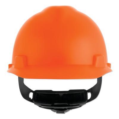 MSA V-Gard Cap-Style Hard Hat with Fas-Trac III Suspension, Matte, Orange