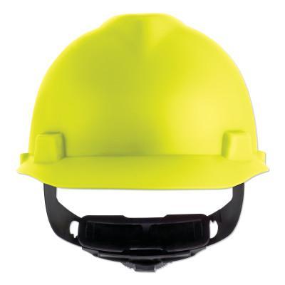 MSA V-Gard Cap-Style Hard Hat with Fas-Trac III Suspension, Matte, Hi-Viz Yellow