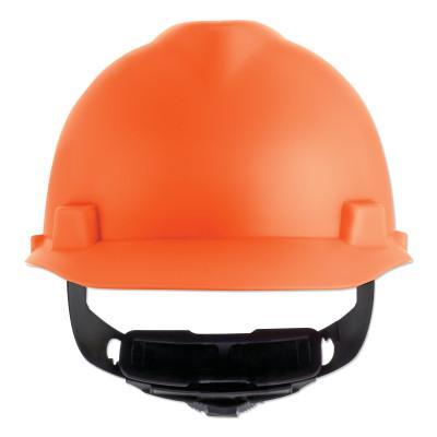 MSA V-Gard Cap-Style Hard Hat with Fas-Trac III Suspension, Matte, Hi-Viz Orange