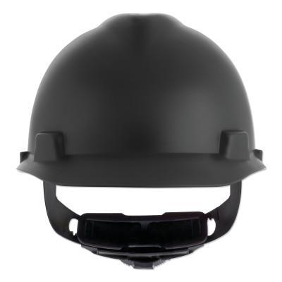 MSA V-Gard Cap-Style Hard Hat with Fas-Trac III Suspension, Matte, Black