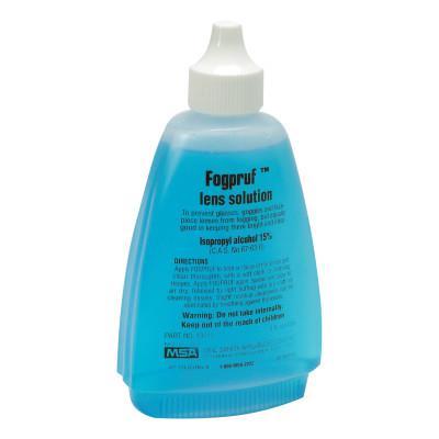 MSA Fogpruf Lens Cleaner, Blue, 4 oz Bottle