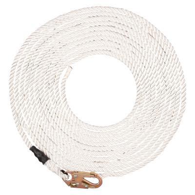 MSA Synthetic Rope Lifelines, 50 ft Snap Hook, 310 lb, 36C Snaphook