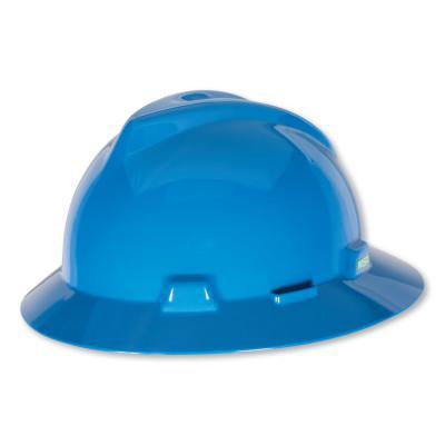 MSA V-Gard Protective Hats, Staz-On, Hat, Blue