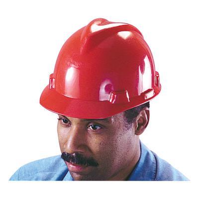MSA V-Gard Protective Caps, Staz-On, Cap, Red