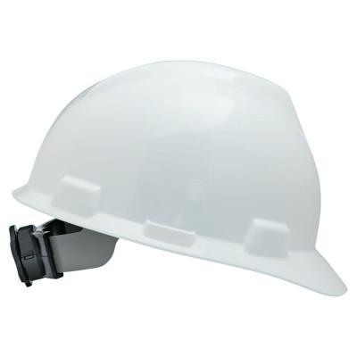 MSA V-Gard Protective Caps, Fas-Trac Ratchet, Cap, White, Standard