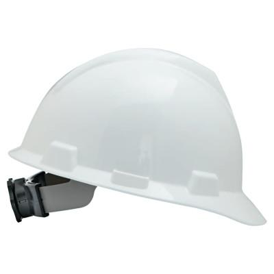 MSA V-Gard Protective Caps, Fas-Trac Ratchet, Cap, White, Large