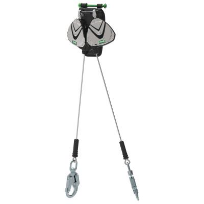 MSA V-EDGE Leading Edge Personal Fall Limiters, AL36CL, Snap Hook, 310 lb, 2 Leg