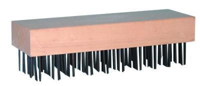 MAGNOLIA BRUSH Butcher Block Brushes, 7 3/4 in, Tempered Steel Wire