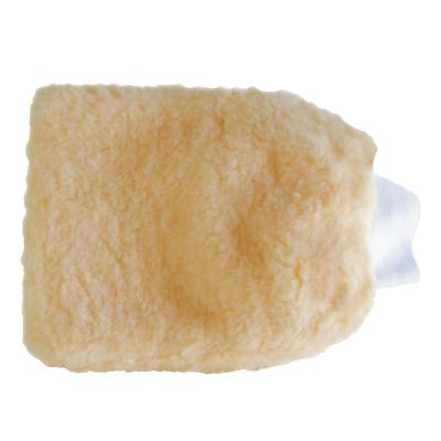"MAGNOLIA BRUSH Wash Mitt with Cuff, 8"" Wide x 12"" High, Peach"
