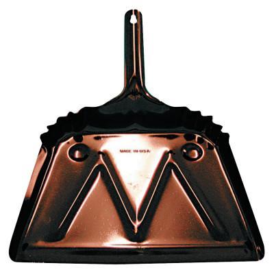 MAGNOLIA BRUSH Dust Pans, 12 in w, 20 Gauge Steel, Black