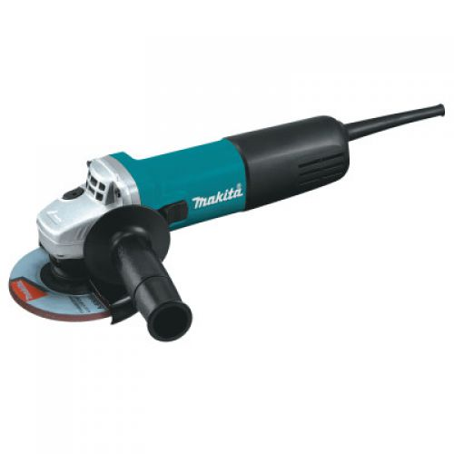 MAKITA 4 1/2 in Angle Grinders, 7.5 A, 11,000 rpm, Body Grip/Slide