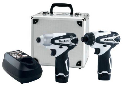 MAKITA 10.8V Compact Combo Kits, Driver/Drill (DF030DW); Impact Driver (TD090DW)