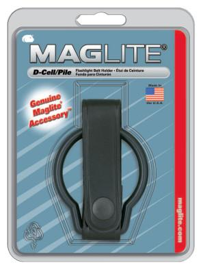MAG-LITE Belt Holders, For Use With D-Cell Flashlights, Plain Leather, Black