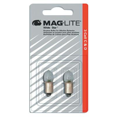 MAG-LITE Mini AA Flashlight Replacement Lamps, For Use With AA 2 cell