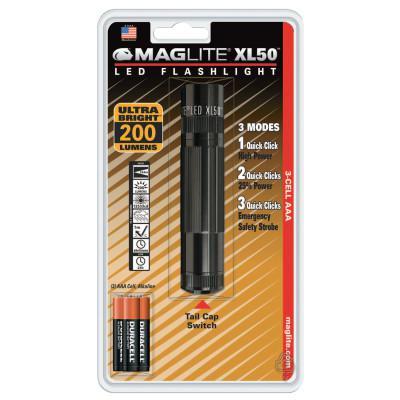 MAG-LITE XL50 LED Flashlight, 3 AAA, Black