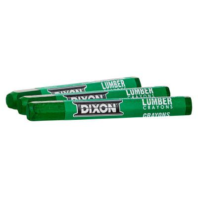 DIXON TICONDEROGA Lumber Crayons, 1/2 in X 4 1/2 in, Green