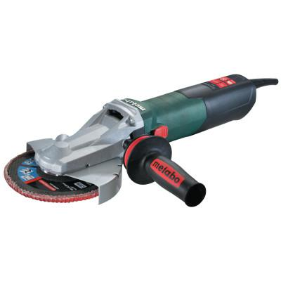 "METABO Quick Flat Head Angle Grinder, 6"" Dia, 13.5 A, 9,600 rpm, Lock-on Slide"
