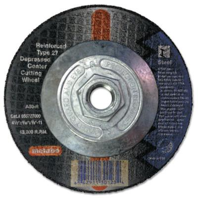 METABO Depressed Center Cutting Wheel, Type 27, 4 1/2 in Dia Aluminum Oxide