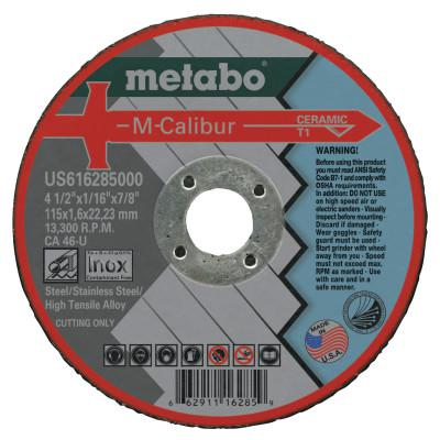 "METABO M-Calibur CA46U Grinding Wheels for Stainless Steel, Type 1, 4 1/2"", 13,300 rpm"