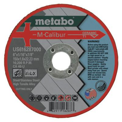 METABO M-Calibur CA46U Grinding Wheels for Stainless Steel, Type 1, 6 in, 10,200 rpm