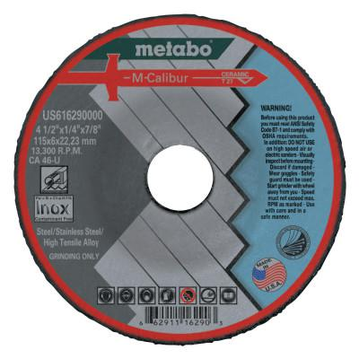 METABO M-Calibur CA46U Grinding Wheels for Stainless Steel, Type 27, 4.5 in, 13,300 rpm