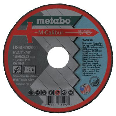 "METABO M-Calibur CA46U Grinding Wheels for Stainless Steel, Type 27, 6"", 10,200 rpm"