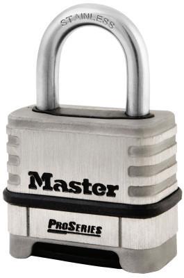 "MASTER LOCK ProSeriesResettable Combination Locks, 5/16""Dia, 1 1/16""L X 1""W, Boxed"