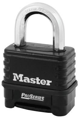 "MASTER LOCK ProSeriesResettable Combination Locks, 3/8""Dia, 1 1/16""L X 15/16""W, Die Cast"