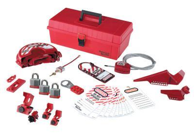 MASTER LOCK Safety Series Personal Lockout Kits, Valve/Elect., Laminated Steel Padlocks