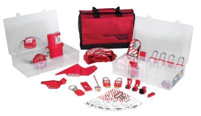 MASTER LOCK Safety Series Group Lockout Kits, Zenex Thermoplastic Padlocks, Valve & Elect.