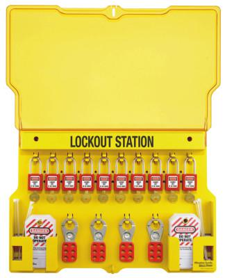 MASTER LOCK Safety Series Lockout Stations with Key Registration Card, 22in, Zenex 10-Lock