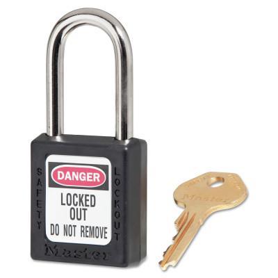 MASTER LOCK No. 410 & 411 Lightweight Xenoy Safety Lockout Padlocks, Black
