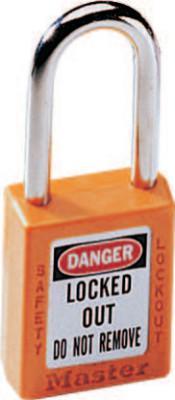 MASTER LOCK No. 410 & 411 Lightweight Xenoy Safety Lockout Padlocks, Orange