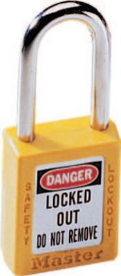 MASTER LOCK No. 410 & 411 Lightweight Xenoy Safety Lockout Padlocks, Yellow