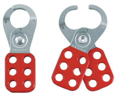 MASTER LOCK Safety Lockout Hasps,  1 in Jaw dia., Red