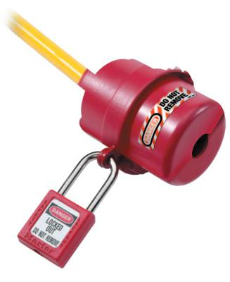 MASTER LOCK Safety Series Rotating Electrical Plug Lockouts, 3 1/4 in L x 2 1/4 in dia.