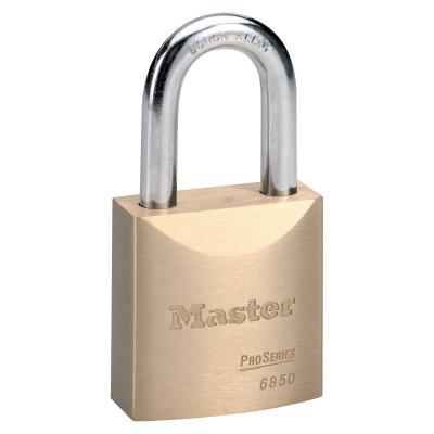 MASTER LOCK ProSeries Solid Brass Rekeyable Pin Tumbler Padlocks, 3/8 in, Brass